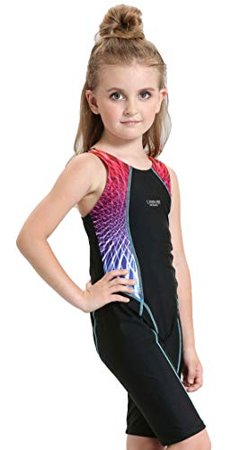 Mädchen Kinder UV-Schutz Tauchanzug Neoprenanzug für Wassersport Einteiliger Wettkampf Badeanzüge Schwimmanzug mit Beinen