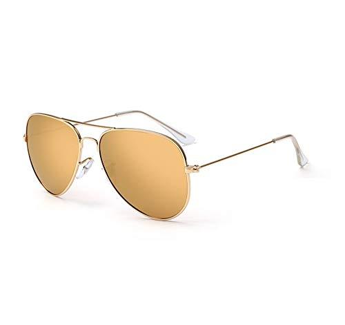 BFQCBFSG Herrensonnenbrille Fahren Polarisator Bunt Mode Weiblich Retro Persönlichkeit Pilotenbrille Mode Urlaub Spielen Uv-Brille, 5 *