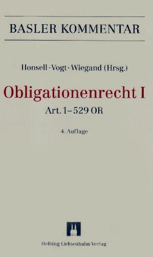 Obligationenrecht (OR I + OR II): Art. 1–529 OR