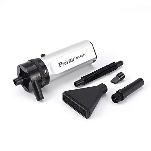 Wafalano Mini aspiradora, ProsKit MS-C001 Mini aspiradora de Mano portátil de Alta Potencia para Disco Hardware Teclado Pantalla USB Colector de Polvo portátil