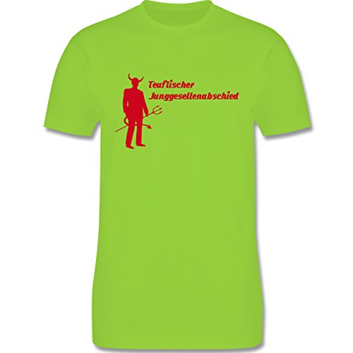 JGA Junggesellenabschied - Teuflischer Junggesellenabschied - Herren Premium T-Shirt Hellgrün
