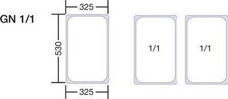 Preisvergleich Produktbild 1x Blanco GN-Behälter 1 / 1-40 Edelstahl Aufwärmebehälter