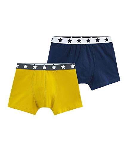 Petit Bateau Jungen Boxershorts Boxer_4815000, 2er Pack, Mehrfarbig (Variante 1 00), 176 (Herstellergröße: 18ans/170cm)