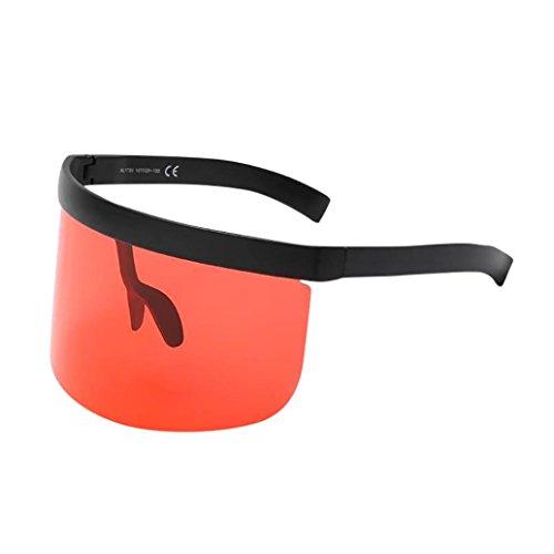 Fashion Unisex Vintage Sonnenbrille Rosennie Damen Retro Oversized Frame Hut Eyewear Anti-Peeping Big Frame Für Herren Frauen Spiegel Reflektierend Brille Big Frame Sonnenbrille Outdoor Brille (D)