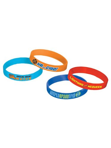Disney's Cars 2 Rubber Bracelets 4 Pack