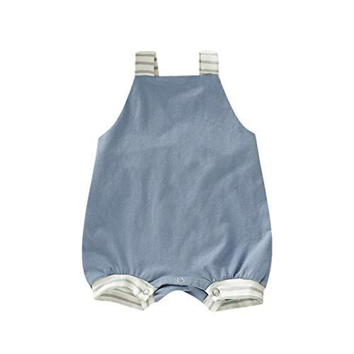 Julhold Neugeborenes Baby Mädchen Jungen Streifen Rückenfrei Lässige Baumwolle Strampler Overall Outfits Sunsuit 0-3 Jahre (Mädchen Für Halloween Duos)