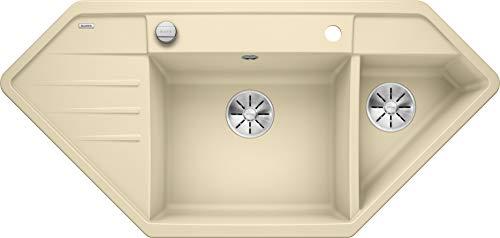 Blanco 524996 Lexa 9 E Küchenspüle, Champagner, 90 x 90 cm Unterschrank