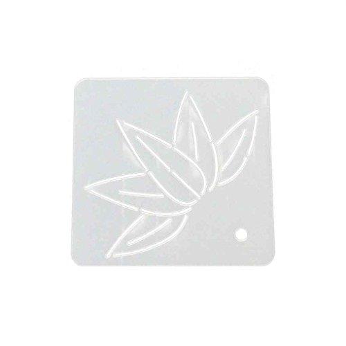 UHAoo Blume Schablone Kunststoff Quilten Vorlage für Patchwork Nähen Quilten Acryl Quilt Vorlage Patchwork Stickerei Schablonen (Acryl-quilt-vorlagen)