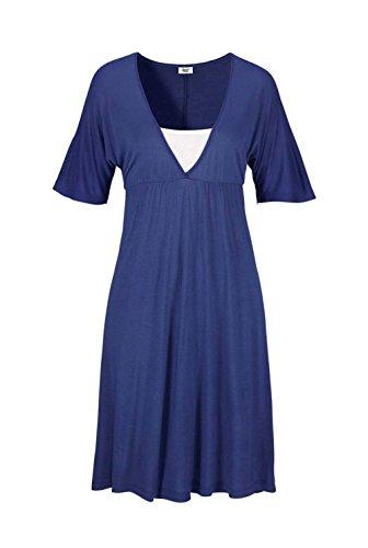 Beach Time Strandkleid Blau Größe 50