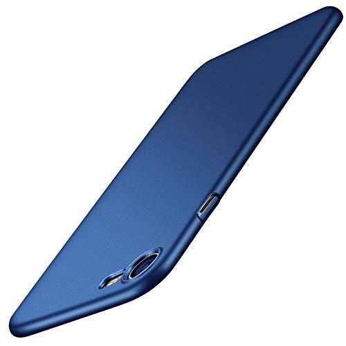 TORRAS iPhone 8 Hülle, iPhone 7 Hülle, Ultra Slim mit [Freiem Gehärtetem Glas Schutzfolie] Anti-Scratch Hochwertigem Hülle Fein Matt Stoßfest Schutz Hard Case Cover für iPhone 7 / iPhone 8 - Navy Blau
