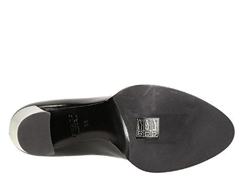 1I155GNERO Prada Talon Femme Cuir Noir Noir