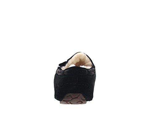 Hausschuh Glitzerbrosche Mit Dakota Brooch Lammfell Ugg® Australia Black 1014427 Mokkassin Slipper Damen 087Wzq