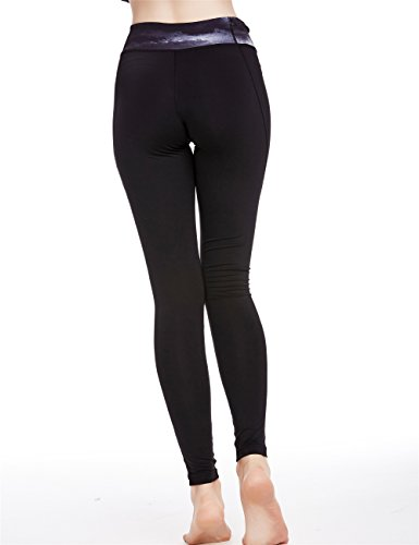 icyZone® Femmes YOGA Running Sport Pantalons taille haute d'entraînement Leggings Fitness Pantalon Storm