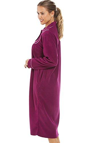 Camille - Robe de chambre luxueuse pour femme - boutons sur le devant - bordeaux Bordeaux