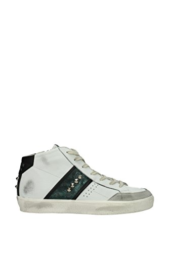 Leather Crown Sneakers Uomo - Pelle (MLC1773BIANCOVERDENERO) 42 EU