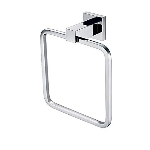 SDKIR-Carrés de cuivre anneau de serviette sèche-serviettes chrome métal simple couche light