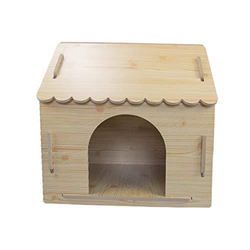 Pet Nest Holz Zwinger im großen Hundehütte Teddy Wo Hundehaus Vier Jahreszeiten Universal - groß - Holzspitze