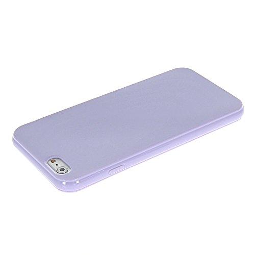 MOONCASE TPU Silicone Housse Coque Etui Gel Case Cover Pour Apple iPhone 6 (4.7 inch) Light Bleu Light Voilet