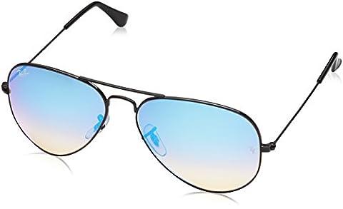 Ray-ban - Mod. 3025 - Lunettes De Soleil Homme, shiny black (shiny black)/Blue Gradient Mirror, taille 58