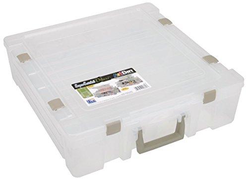 Unbekannt ArtBin 6982AB Aufbewahrungsbehälter, mit geteiltem Deckel/geteiltem Boden, Super Satchel Deluxe, durchscheinend/farblos