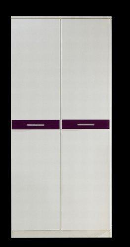 Wimex Kleiderschrank/ Drehtürenschrank Gina, 2 Türen, (B/H/T) 90 x 199 x 58 cm, Weiß