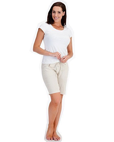 LADIES / WOMENS CASUAL LINEN COOL SHORTS, PERFECT FOR HOLIDAYS / SUMMER / BEACH Test