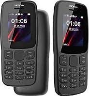 Nokia 106 Dual Sim 2018 Dark Grey With LED Torch - FM Radio - Big Button Phone
