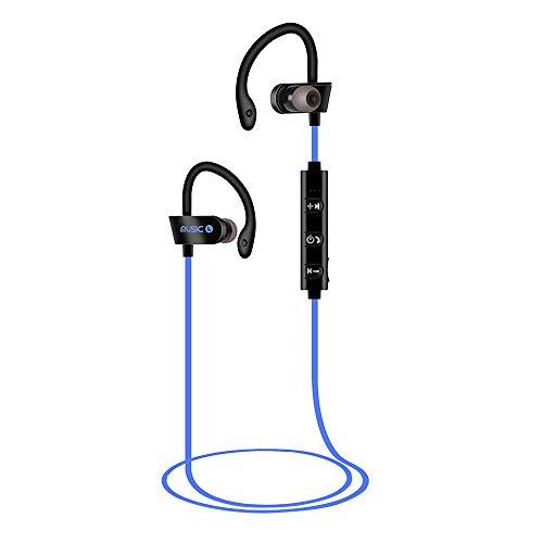 Igemy Wireless BT Headset Headphones Sports Sweatproof Stereo Earbuds Earphone (Blau)