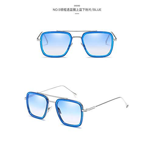 CCGSDJ Sonnenbrille Mann Brille Rechteck Vintage Transparente Trendige Sonnenbrille Gotischen Okulos
