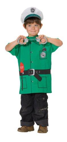 T-Shirt Kinder Polizei Uniform Kostüm Spieleshirt T-Shirt Kinderkostüm Größe 116 (Polizei Kostüme Ideen)