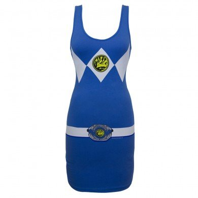ower Ranger Adult Tank Dress Large (Blue Power Ranger Erwachsene Kostüme)