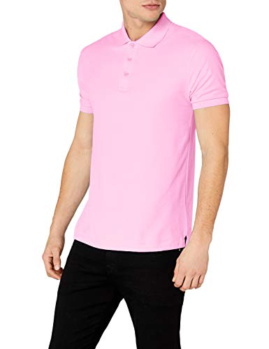 Rosa Shirts Für Männer (Fruit of the Loom Herren Poloshirt, Rosa (Light Pink), Large)