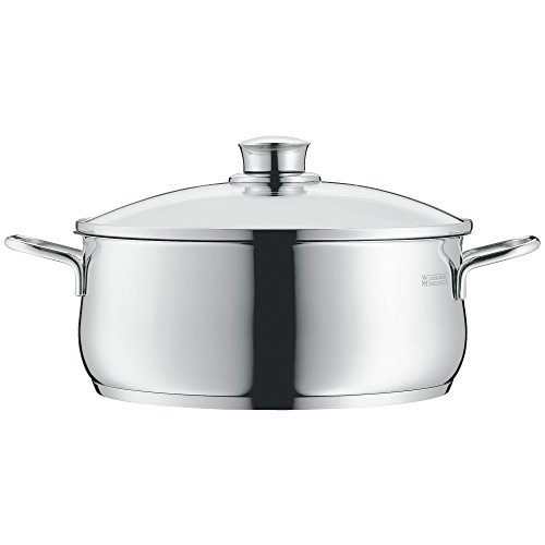 WMF cookware Ø 16 cm approx. 1,5l Diadem Plus pouring rim glass lid Cromargan stainless steel brushed suitable for all stove tops including induction dishwasher-safe