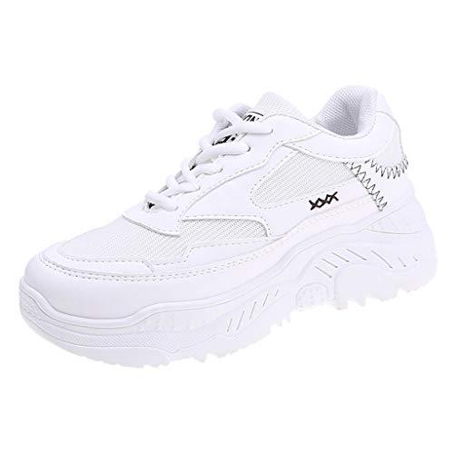 BaZhaHei Moda Sneakers Donna,Studente Respirabile Scarpe Fondo Spesso Sportivo Donne Lace-up Scarpe da Corsa Casual Scarpe da Lavoro Running Fitness Shoes con Sportive All'aperto 36-40