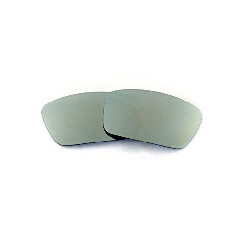 Walleva Ersatzgläser für Oakley Square Wire Sonnenbrille - Mehrfache Optionen (Titanium Mirror Coated - Polarisiert)