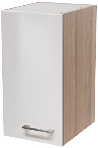 Flex-Well 00007131 Oberschrank Abaco Perlmutt glänzend, Akazie 30 x 54,8 x 32 cm