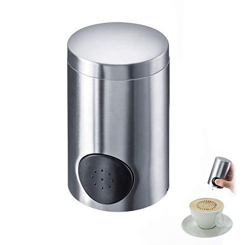 Westmark Süßstoffspender für ca. 800-1000 Süßstofftabletten, Matter Edelstahl/Kunststoff, 8,9 x 5 x 5 cm, Silber/Schwarz, 65172260