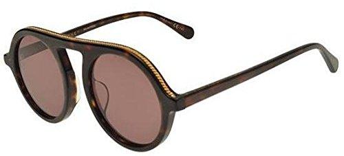 Stella mccartney occhiali da sole falabella asian fit sc0031sa havana gold/brown donna