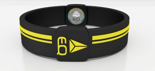 EQUILIBRIUM Black Bracelet - Power Energie Armband, Farbe:schwarz/gelb; Größe/Umfang:S - 15.2cm (Power Armband Xl Balance)