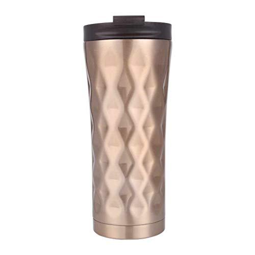 Lorsoul 500ml Doppelwand-Edelstahl-Auto-Kaffeetasse Thermobecher Insulated Sports Daily Vacuum Wasserflasche