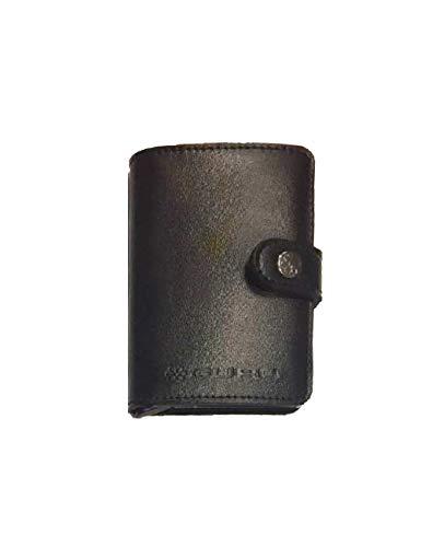 guru Portafoglio-carte di credito-protezione RFID/NFC-in Pelle -vari colori, Nero