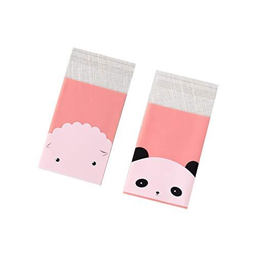 eks Tasche Selbstklebende Geschenktüte Cartoon Candy Bag Süßigkeitentüten Geschenk Verpackung für Schokolade, Keks, Bonbons, 7 * 10CM Tier Candy Bag(Schaf + Pandas) ()