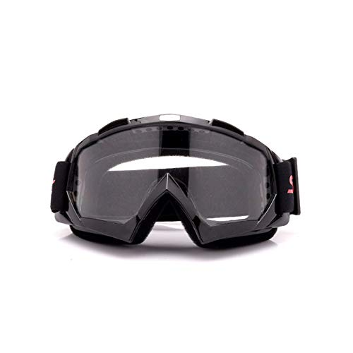Adisaer Sport Brille Klar Motorradhelm Off Road Geländesport Skibrille Lokomotivschutzbrillen Fährt Black Transparent Damen Herren