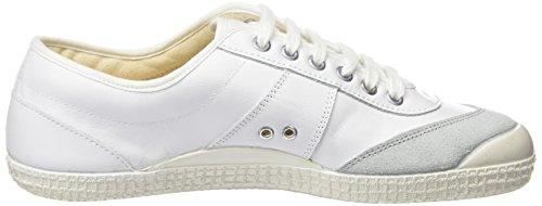 Kawasaki Unisex-Erwachsene 30 Retro Leathe Sneaker White-Navy