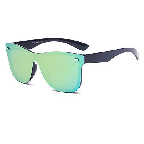 Vintage Sonnenbrille Männer Randlose Quadratische Rahmen Reise Flachbildschirm Objektiv Männlichen Sonnenbrille Frauen Oculos Gafas (Lenses Color : NO 5 Yellow green)