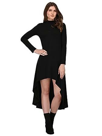 Rigo Women's A-line Knee-Long Dress(WDRS145-1055-S_Black_8)