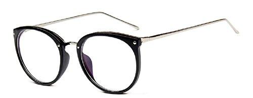Embryform Bildschirm Bein fällt Brillenrahmen Retro-Anzug runde Brille Rahmengläser (Kontaktlinsen Günstigsten)