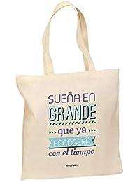 074ab101b Okemaku - Tote Bag Mensaje: 'Sueña en Grande Que ya encogerá con el Tiempo'  - Bolsa de algodón Bolso - Totebag…