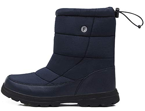 SINOES Weiblich 018 Klassische Stiefeletten Schneestiefel Bootsschuhe Wildleder Stiefel Blau 37 EU