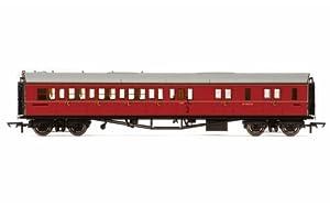 Hornby R4764BR Collett Entrenador Corredor de Freno Tercera Clase RH w4935W Tren Modelo Set, marrón